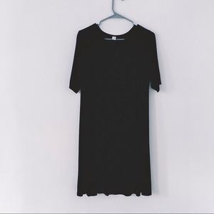 Black 3/4 Sleeve Swing Dress